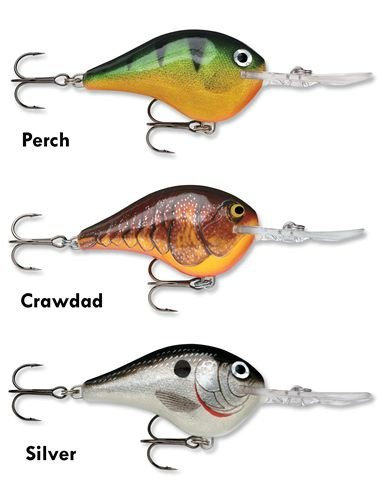 Dives-To 16 Fishing Lure (Dark Brown Crawdad), Quick-Dive Resting Position By Rapala by