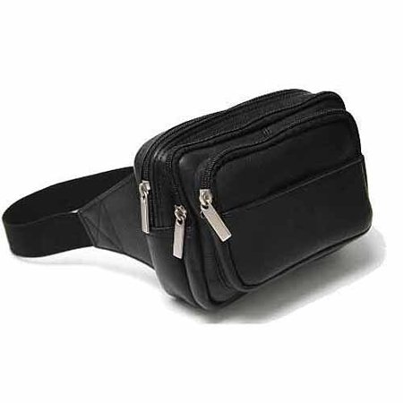Colombian Leather (Vaquetta Colombian Leather Multi-Compartment Travel Fanny Pack )