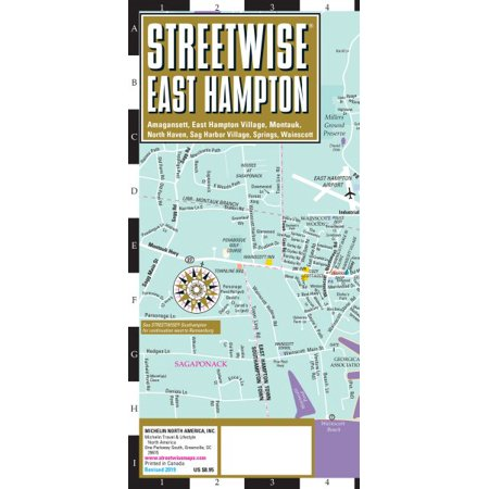 Michelin Streetwise Maps: Streetwise East Hampton Map: Laminated City Map of East Hampton, New York, Amagansett, East Hampton Village, Montauk, North Haven, Sag Harbor Village, Springs, Wainscott (Oth