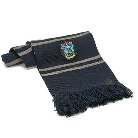 Harry Potter Ravenclaw Thicken Wool Knit Scarf Wrap Soft Warm Costume Cosplay
