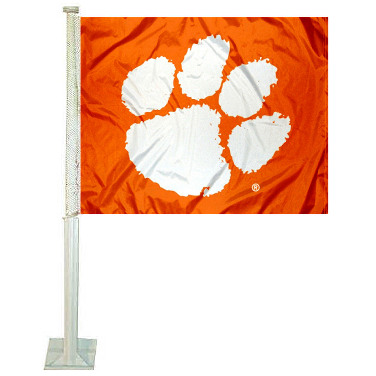 "Clemson University Orange 12"" x 15"" Car Flag"
