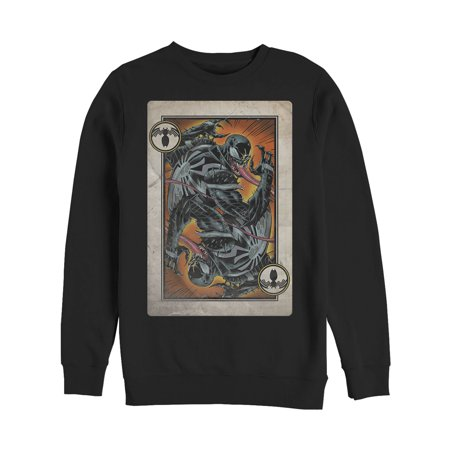 Marvel Men's Venom Playing Card Sweatshirt