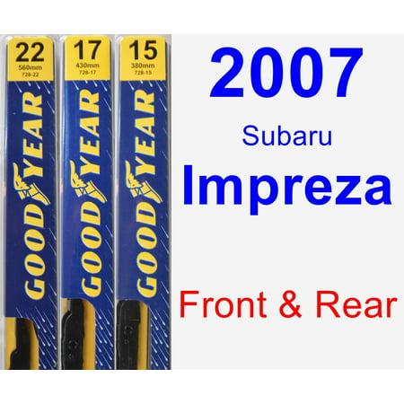 2007 Subaru Impreza Wiper Blade Set/Kit (Front & Rear) (3 Blades) - Premium