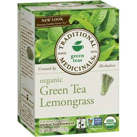 Les plantes médicinales traditionnelles thés verts Thé vert bio Citronnelle Sacs Enveloppé de thé - 16 CT