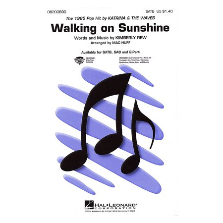 Hal Leonard Walking on Sunshine ShowTrax CD by Katrina & The Waves Arranged by Mac (Katrina And The Waves Walking On Sunshine Live)