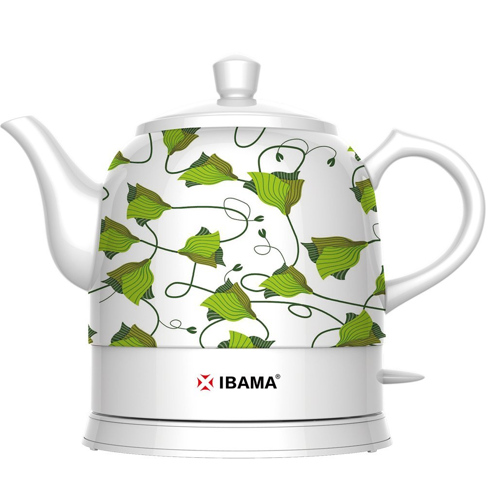 IBAMA Ceramic Electric Kettle Cordless Water Teapot for T...