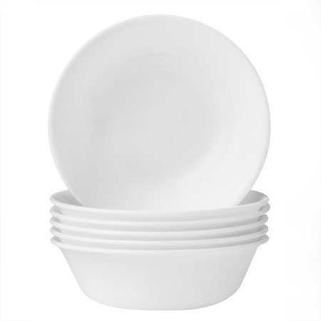 Corelle Livingware Winter Frost White 18-oz Soup Bowl, Set of (4 Rimmed Soup Bowls)