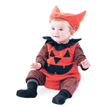 Mosunx Newborn Infant Baby Boy Striped Pumpkin Romper Halloween Outfits Costume Set - Newborn Baby Costumes Halloween