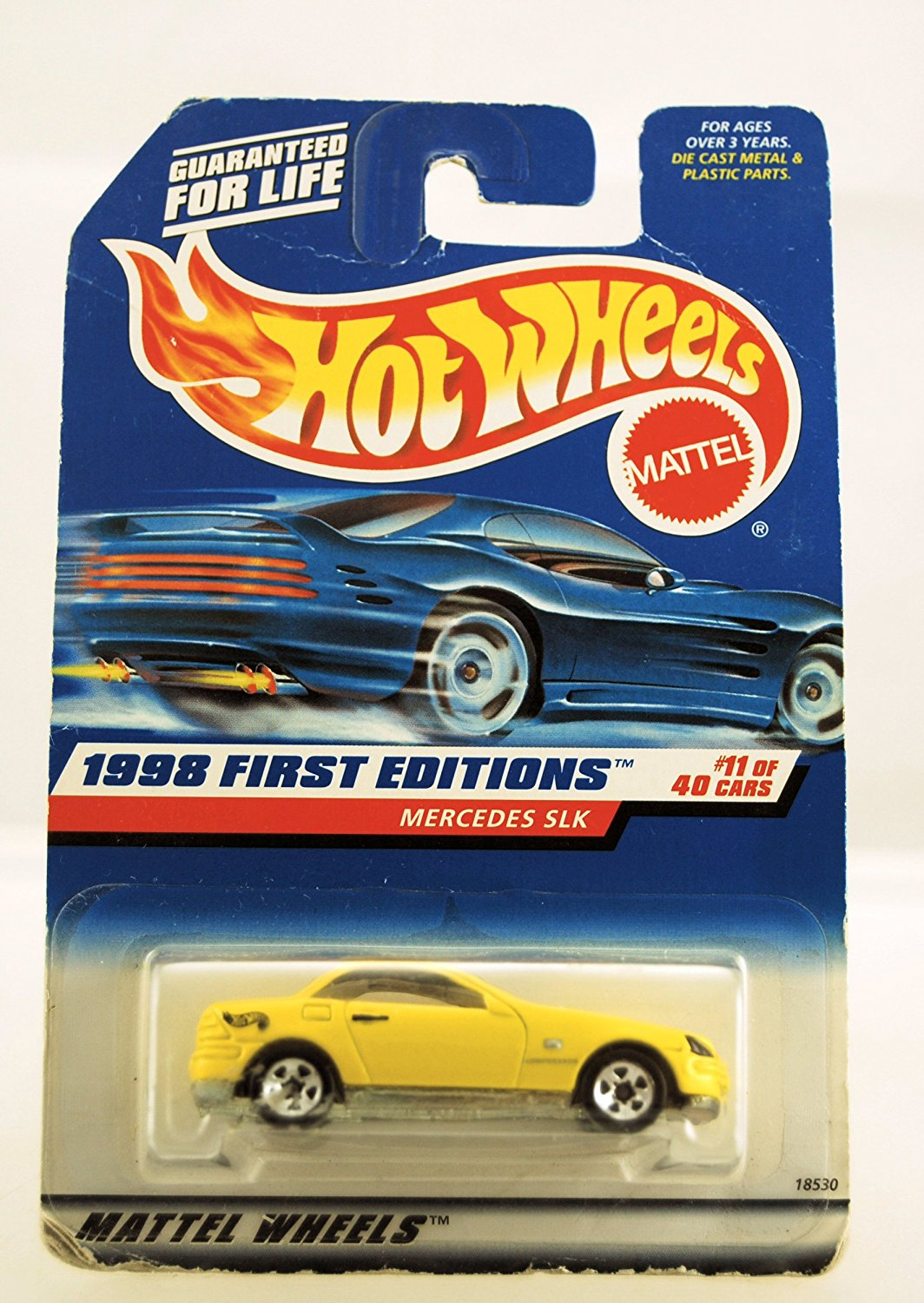 Hot Wheels 1998 First Editions Mercedes SLK Yellow #11 of 40 Cars Die Cast Collector #646... by