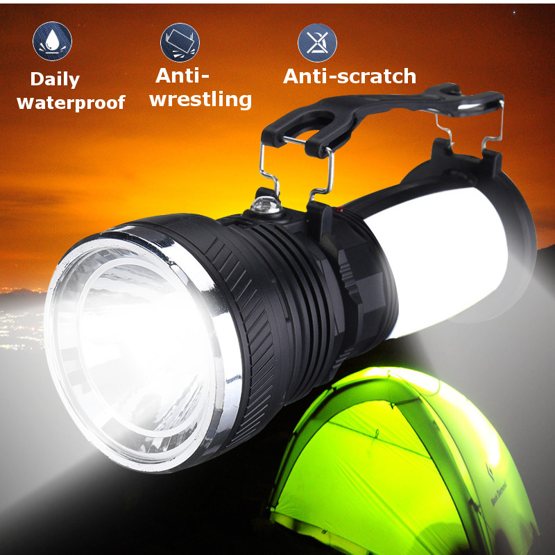 Portable Solar USB Charge Camping LED Light Outdoor Emergency Lantern Flashlight by