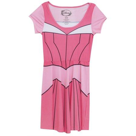 I Am Aurora Disney Princess Movie Mighty Fine Juniors Costume Skater Dress - Princess Aurora Dress