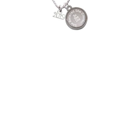 Silvertone Mini Year 2019 She Believed She Could So She Did Engraved Necklace