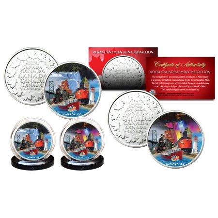 CANADA 150 ANNIV. 2017 Loonie Dollar Design on RCM Medallions 2-Coin Canada Set
