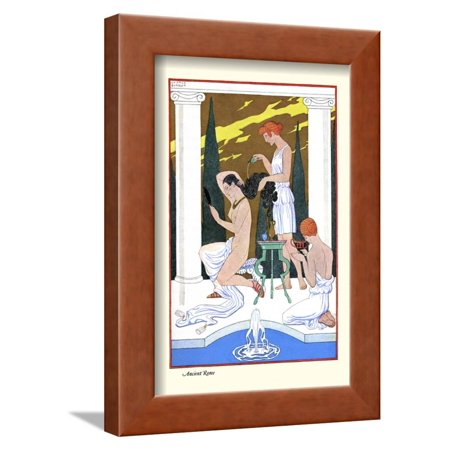 Ancient Rome Framed Print Wall Art By Georges Barbier - Walmart.com