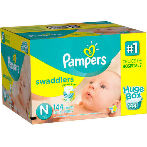 Pampers Swaddlers Diapers, Size Newborn (Choose Diaper Count)