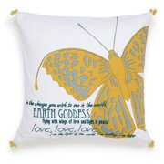 Under The Canopy Metamorphosis Butterfly Decorative Pillow