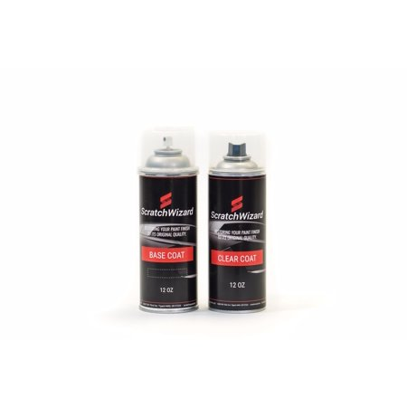Automotive Spray Paint for Nissan Micra K36 (Ash Metallic) Spray Paint + Spray Clear Coat by Scratchwizard Ash Metallic Spray