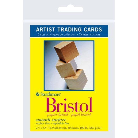 Strathmore Artist Trading Card Pack, Bristol Paper Smooth, 20 Sheets ()
