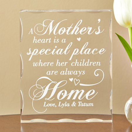 Her Special Place - Personalized Her Heart is a Special Place Block, Mother