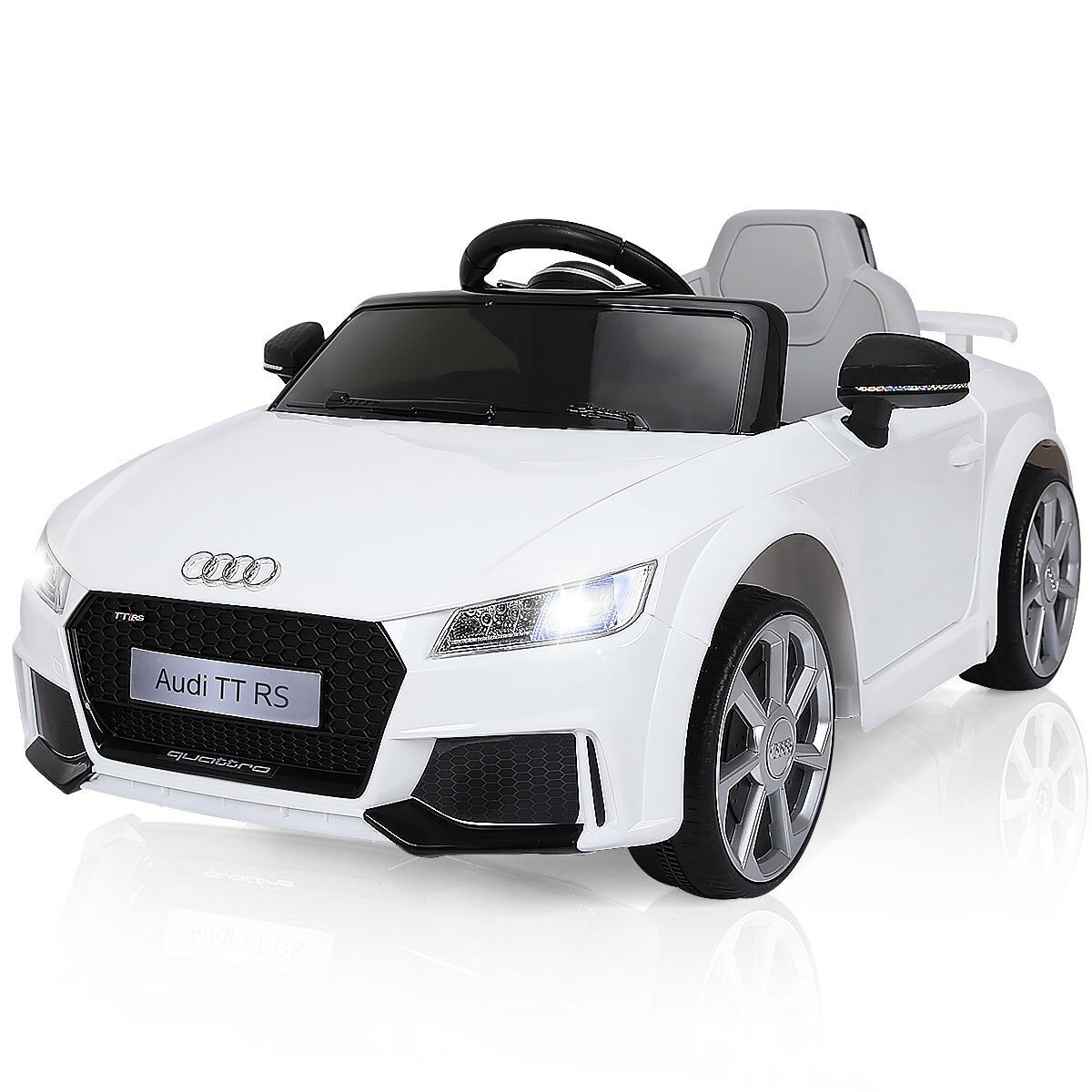 Gymax 12V Audi TT RS Electric Kids Ride On Car Licensed Remote Control MP3