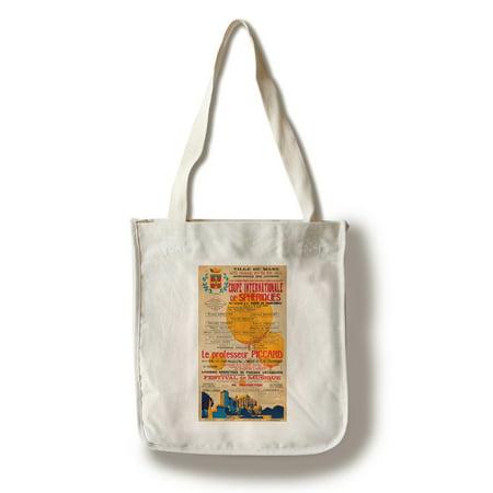 100 Coupe - Coupe Internationale de Spheriques Vintage Poster France c. 1936 (100% Cotton Tote Bag - Reusable)