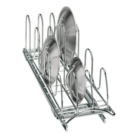 Lynk Professional® Slide Out Pan Lid Holder - Pull Out Kitchen Cabinet Organizer Rack - 7.25 inch wide x 21 inch deep -