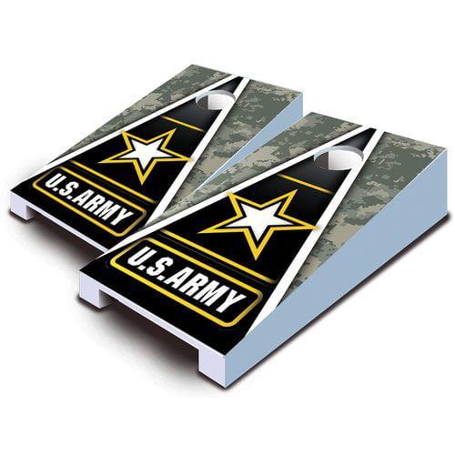 AJJ Cornhole 10 Piece Army Tabletop Cornhole Set by