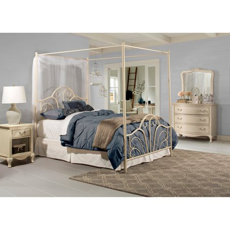 Hillsdale Furniture Dover Queen Bed with Bedframe, Cream