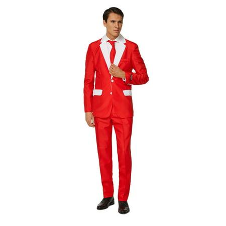 Suitmeister Men's Santa Outfit Christmas Suit