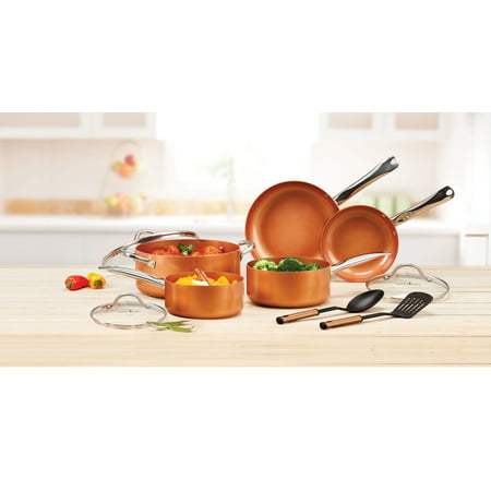 Copper Chef Pan Set, 10 Piece