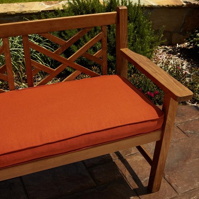 Humble and Haute Clara Rust Indoor/ outdoor 48-inch Sunbrella Bench Cushion