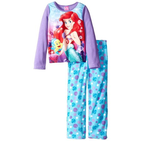 Disney Girls' Ariel Underwater Pals 2-Piece Pajama - Disney Ariel Shoes