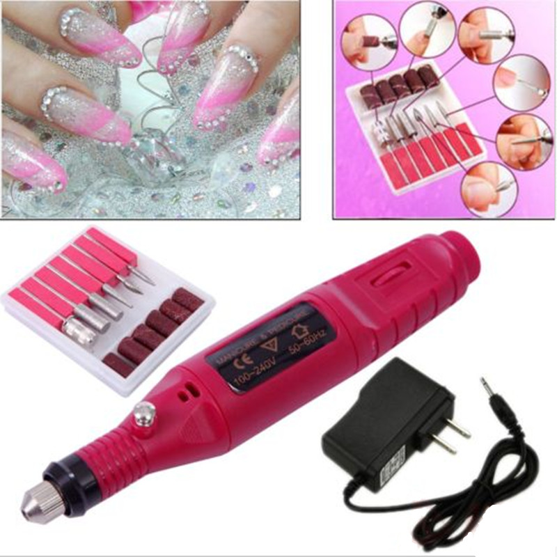 Electric <b>Nail Drill Manicure Set</b> Nail Polish&File Bit Machine Nail Drill Art <b>Manicure Tool </b>