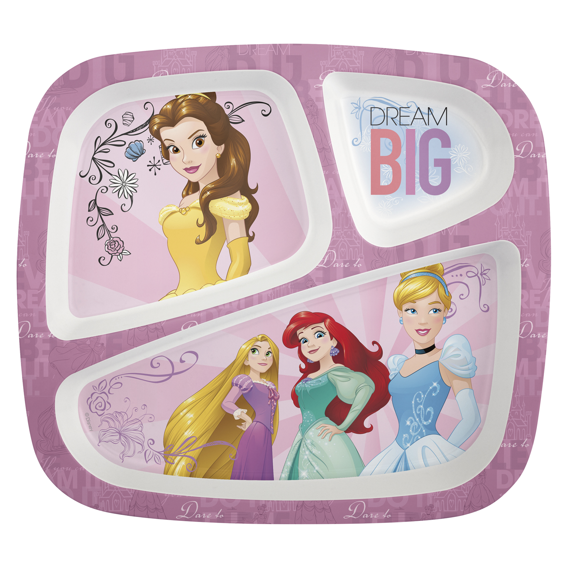 Disney Princess Divided Plates for Kids by Zak!