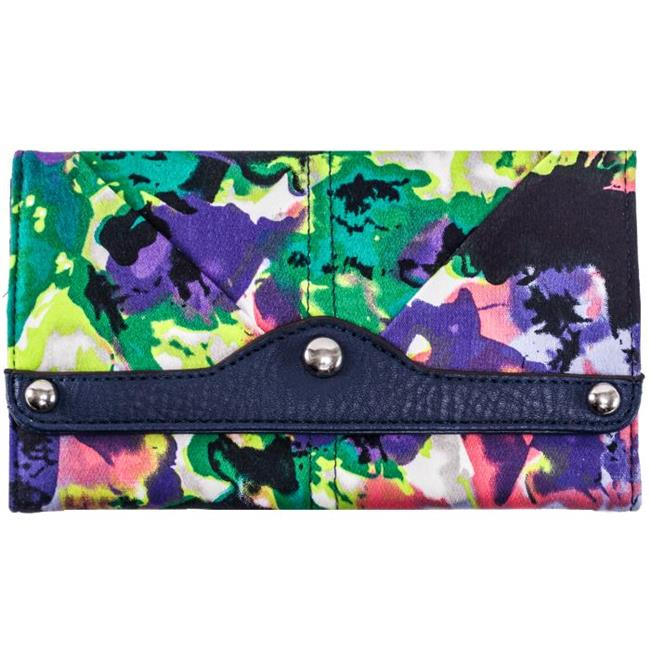 McKlein 11319 Madaline Tri Fold Snap Closure Wallet, Purple