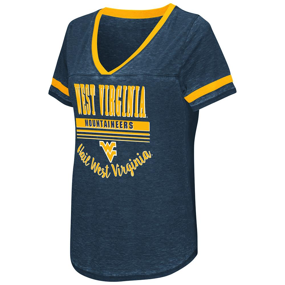 Womens West Virginia Mountaineers Short Sleeve Tee Shirt S by Colosseum