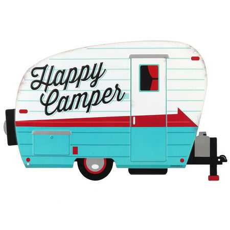 Happy Campers Embossed Metal Sign](Happy Mothers Day Signs)