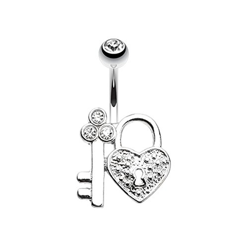 Key to My Heart's Lock WildKlass Belly Button Ring by