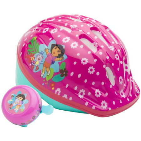 Plastic Pith Helmet (Dora the Explorer Pink Microshell Bicycle Toddler Helmet with Bonus Bicycle)