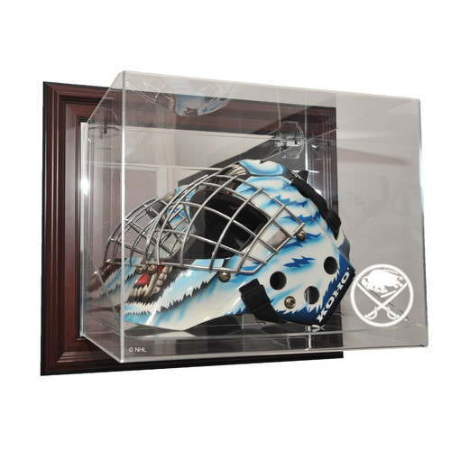 Caseworks International NHL Goalie Mask Case Up Display Case in Mahogany
