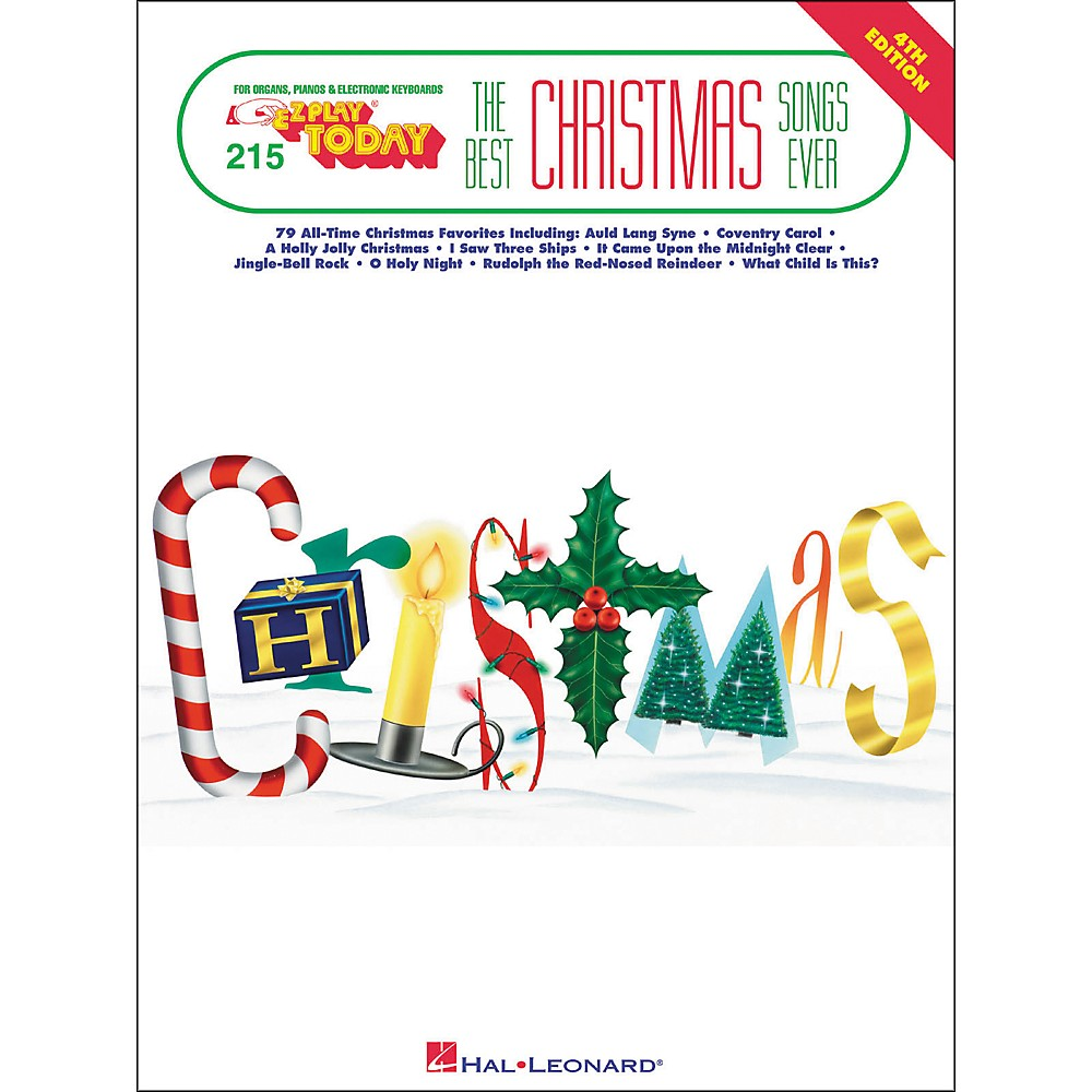 Hal Leonard Best Christmas Songs Ever 4th Edition E-Z Play 215 ...