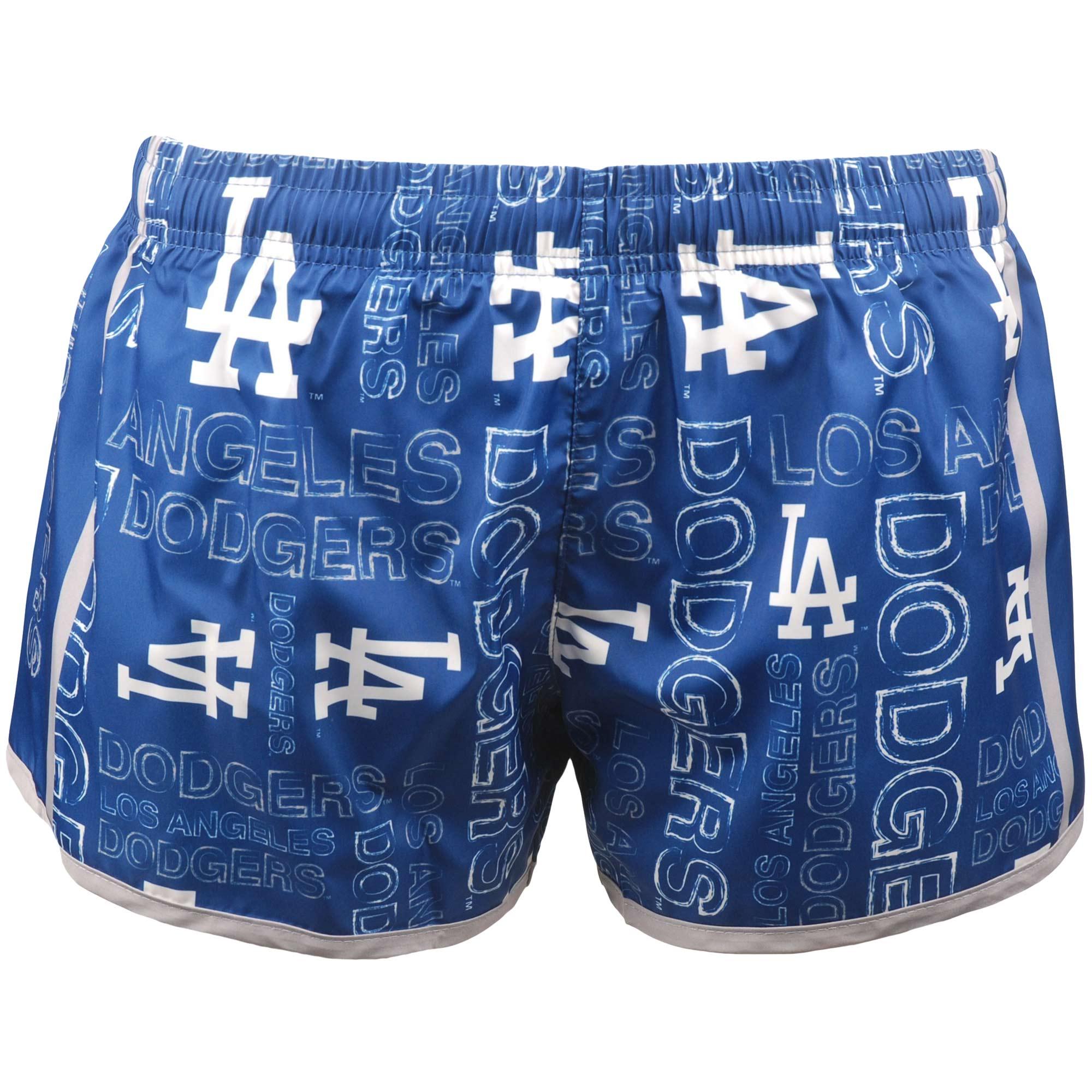 Los Angeles Dodgers Women's Repeat Logo Running Shorts - Royal