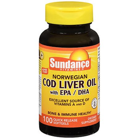 Sundance norwegian cod liver oil with epa dha quick for Cod fish walmart