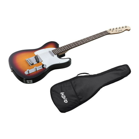 Monoprice Indio Retro Classic Electric Guitar - Sunburst, With Gig (White Strat Electric Guitar)