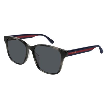 Gucci GG0417SK 004 Sunglasses Grey Havana Frame Grey Blue Lenses 56mm