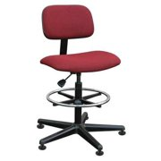 Bevco Swivel Stool, Upholstered, 300 lb. Weight Limit, Burgundy, 4500 BURGUNDY