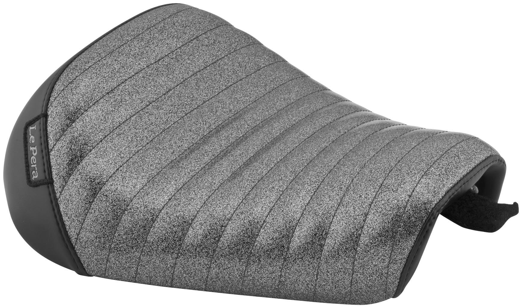 Le Pera Lk 006cmpt Bare Bones Solo Seat Pleated Charcoal Metal