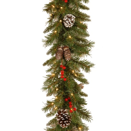 National Tree Co. Frosted Berry Garland