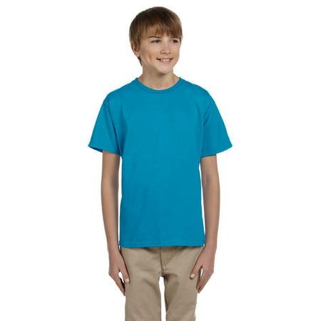 469a4aa6d Hanes 5370 Boys Short Sleeve T-Shirt - Teal - X-Large - Walmart.com