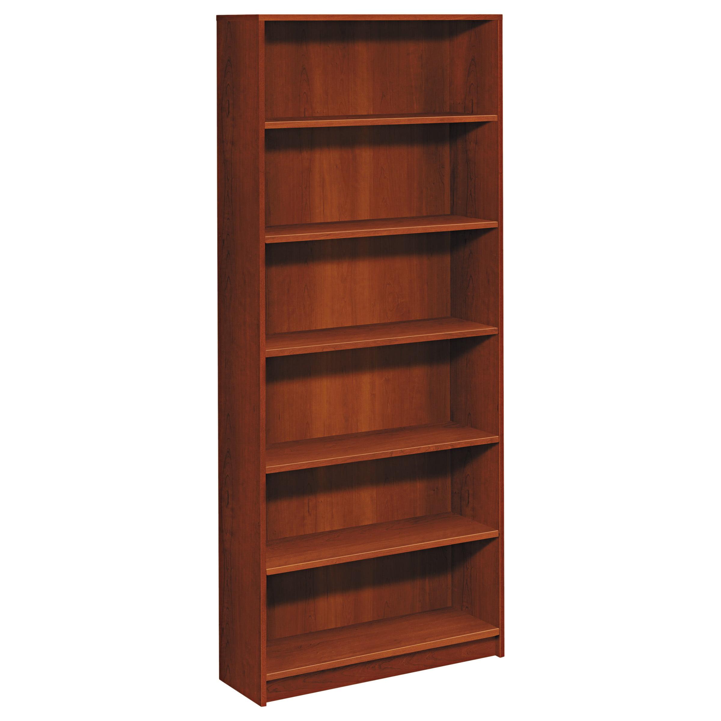 HON 1870 Series Bookcase, Six Shelf, 36w x 11 1/2d x 84h, Cognac